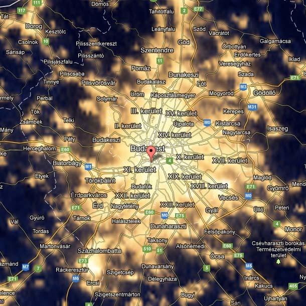 Budapest fénytérképe